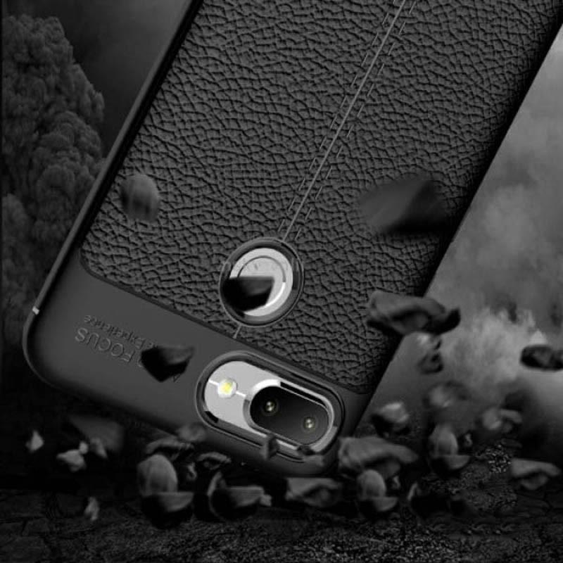 قاب ژله ای طرح چرم Auto Focus Jelly Case Xiaomi Redmi 6