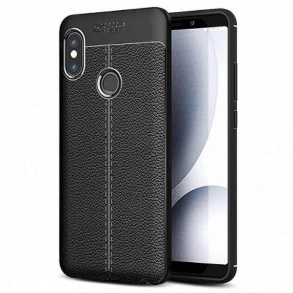 قاب ژله ای طرح چرم Auto Focus Jelly Case Xiaomi Redmi Note 5 Pro