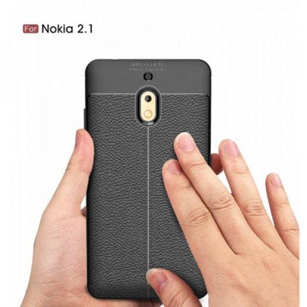 قاب ژله ای طرح چرم Auto Focus Jelly Case Nokia 2.1 2018