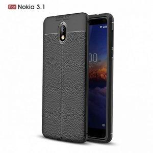 قاب ژله ای طرح چرم Auto Focus Jelly Case Nokia 3.1