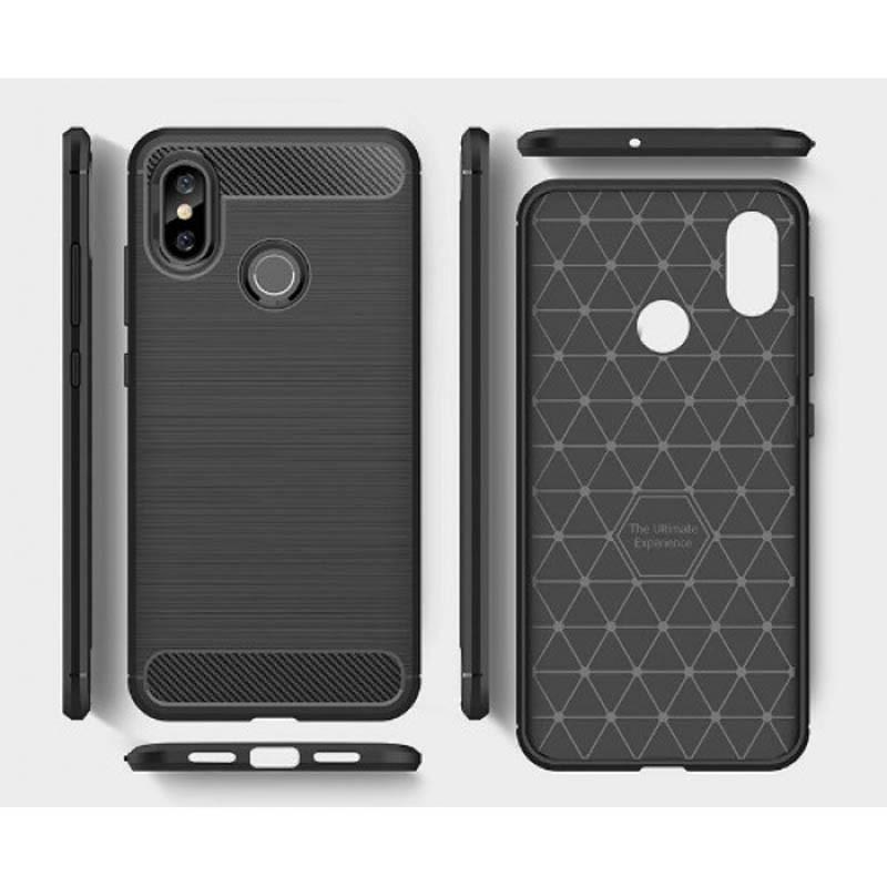 قاب محافظ ژله ای شیائومی Carbon Fibre Case Xiaomi Mi 8