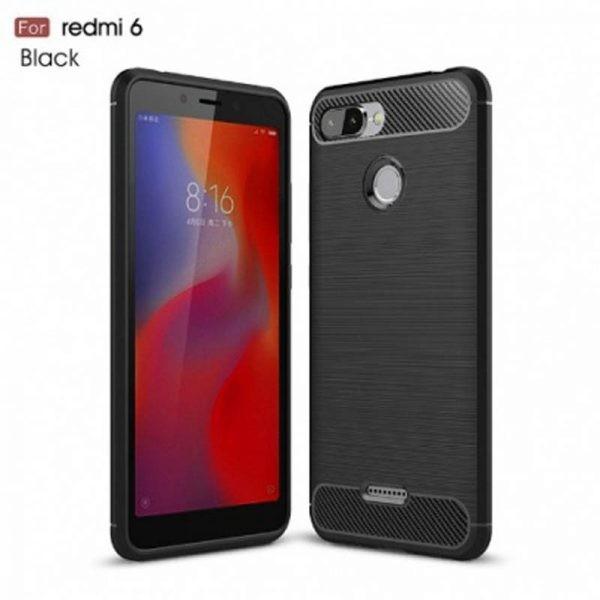 قاب محافظ ژله ای شیائومی Carbon Fibre Case Xiaomi Redmi 6