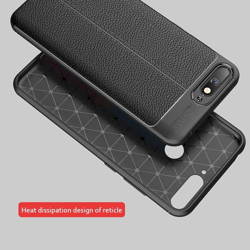 قاب ژله ای طرح چرم Auto Focus Jelly Case Huawei Y6 2018 / Honor 7A