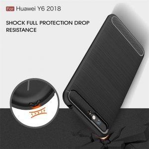 قاب محافظ ژله ای هوآوی Carbon Fibre Case Huawei Y6 2018 / Honor 7A