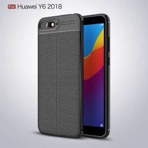 قاب ژله ای طرح چرم Auto Focus Jelly Case Huawei Y6 2018 / Honor 7A
