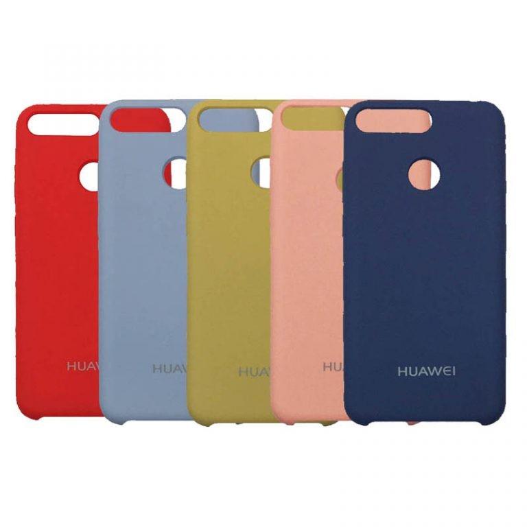 قاب محافظ رنگی سیلیکونی Silicone Cover Huawei Y6 2018 / Honor 7A