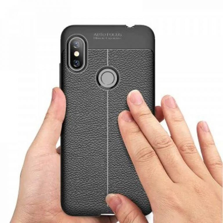 قاب ژله ای طرح چرم Auto Focus Jelly Case Xiaomi Redmi Note 6 Pro