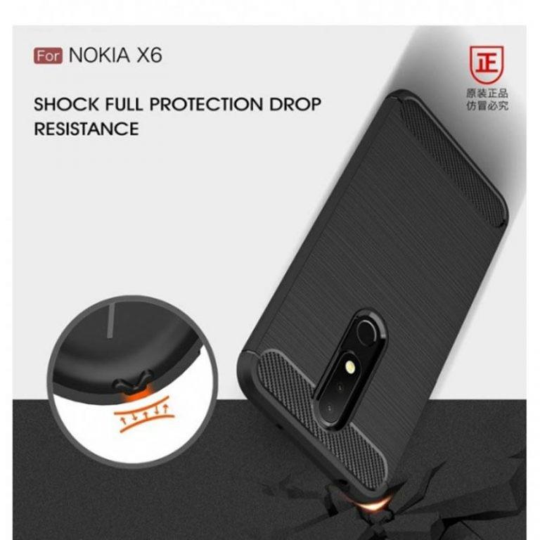 قاب محافظ ژله ای نوکیا Carbon Fibre Case Nokia x6