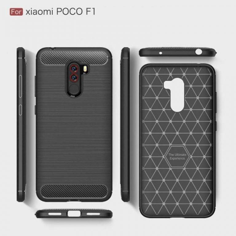 قاب محافظ ژله ای شیائومی Carbon Fibre Case Xiaomi Poco F1 / Pocophone F1