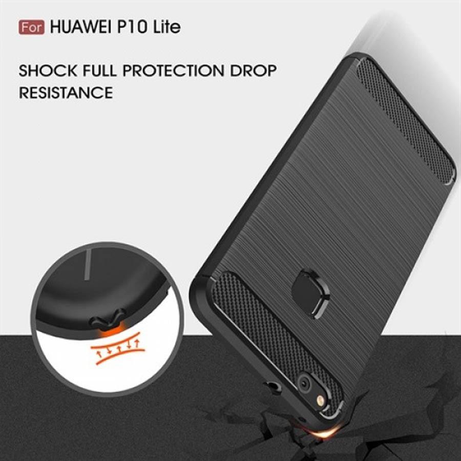 قاب محافظ ژله ای هوآوی Carbon Fibre Case Huawei P10 Lite