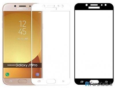 محافظ صفحه نمایش تمام چسب با پوشش کامل Samsung Galaxy J7 Pro
