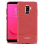 قاب ژله ای طرح چرم سامسونگ Becation Ruged Armor Soft Case Samsung Galaxy J8 2018