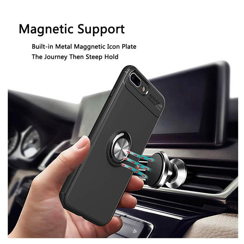 قاب محافظ ژله ای Magnetic Ring Case Apple iPhone 8 Plus