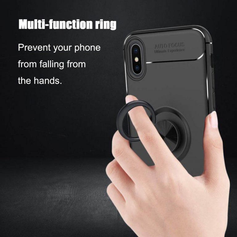 قاب محافظ ژله ای Magnetic Ring Case Apple iPhone Xs Max