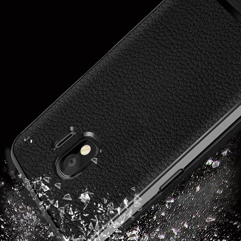 قاب ژله ای طرح چرم سامسونگ Becation Ruged Armor Soft Case Samsung Galaxy J4 2018