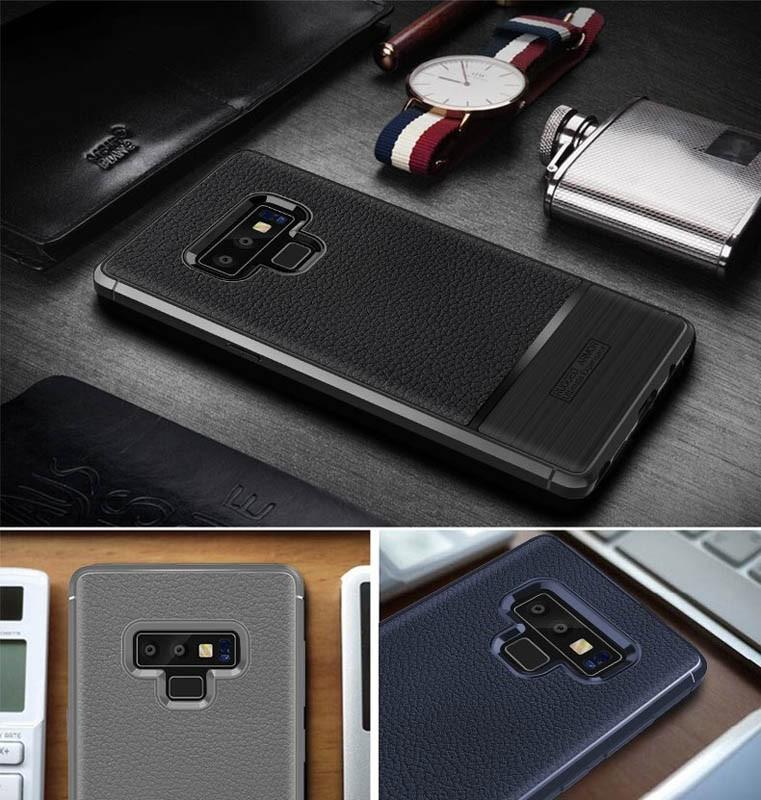 قاب ژله ای طرح چرم سامسونگ Becation Ruged Armor Soft Case Samsung Galaxy Note 9
