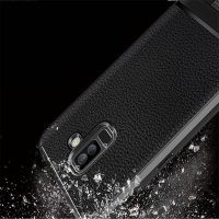 قاب ژله ای طرح چرم سامسونگ Becation Ruged Armor Soft Case Samsung Galaxy A6 2018