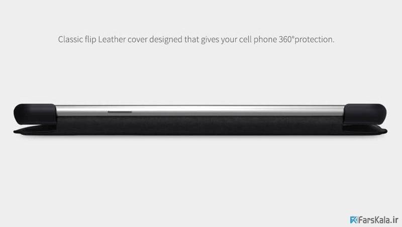 کیف چرمی نیلکین سامسونگ Nillkin Qin Leather Case Galaxy A8s