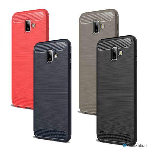 قاب محافظ ژله ای سامسونگ Carbon Fibre Case Samsung Galaxy J6 Plus