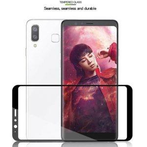 محافظ صفحه نمایش تمام چسب با پوشش کامل Samsung Galaxy A8 Star A9 Star