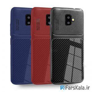 قاب ژله ای طرح چرم فیبر کربنی سامسونگ Auto Focus Jelly Case Samsung Galaxy J6 Plus