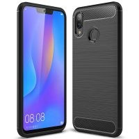 قاب محافظ ژله ای هوآوی Carbon Fibre Case Huawei nova 3i / P Smart Plus