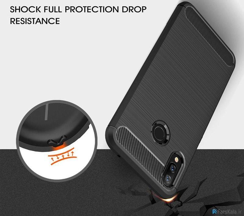 قاب محافظ ژله ای هوآوی Carbon Fibre Case Huawei nova 3i / P Smart Plus