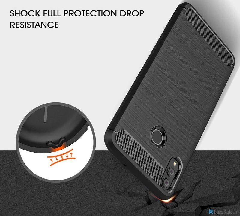 قاب محافظ ژله ای هوآوی Carbon Fibre Case Huawei Honor 8x
