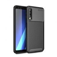 قاب ژله ای طرح چرم فیبر کربنی سامسونگ Auto Focus Jelly Case Samsung A7 2018
