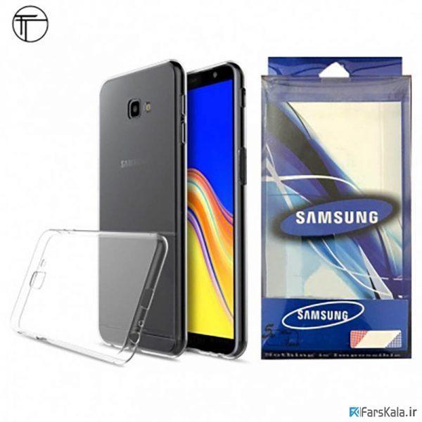 محافظ شیشه ای - ژله ای Transparent Cover برای Samsung Galaxy J4 Plus 2018