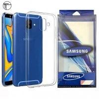 محافظ شیشه ای - ژله ای Transparent Cover برای Samsung Galaxy J6 Plus 2018