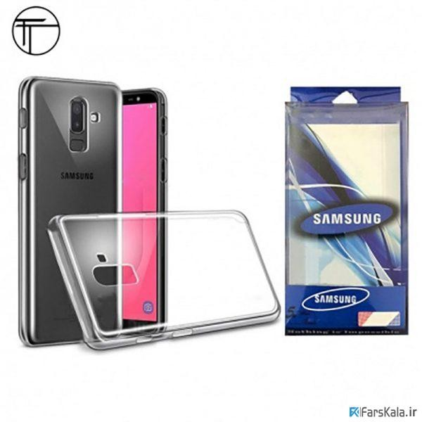 محافظ شیشه ای - ژله ای Transparent Cover برای Samsung Galaxy J8 2018