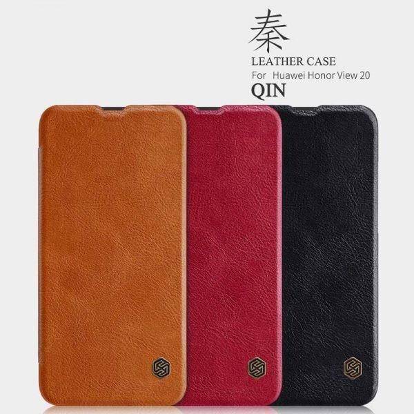 کیف چرمی نیلکین Nillkin Qin Leather Case Huawei Honor View 20