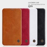 کیف چرمی نیلکین سامسونگ Nillkin Qin Leather Case Samsung Galaxy S10 Lite