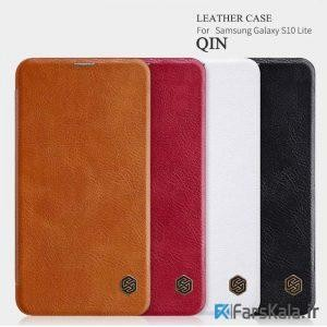 کیف چرمی نیلکین سامسونگ Nillkin Qin Leather Case Samsung Galaxy S10 Lite