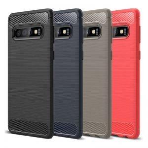 قاب محافظ ژله ای سامسونگ Carbon Fibre Case Samsung Galaxy S10
