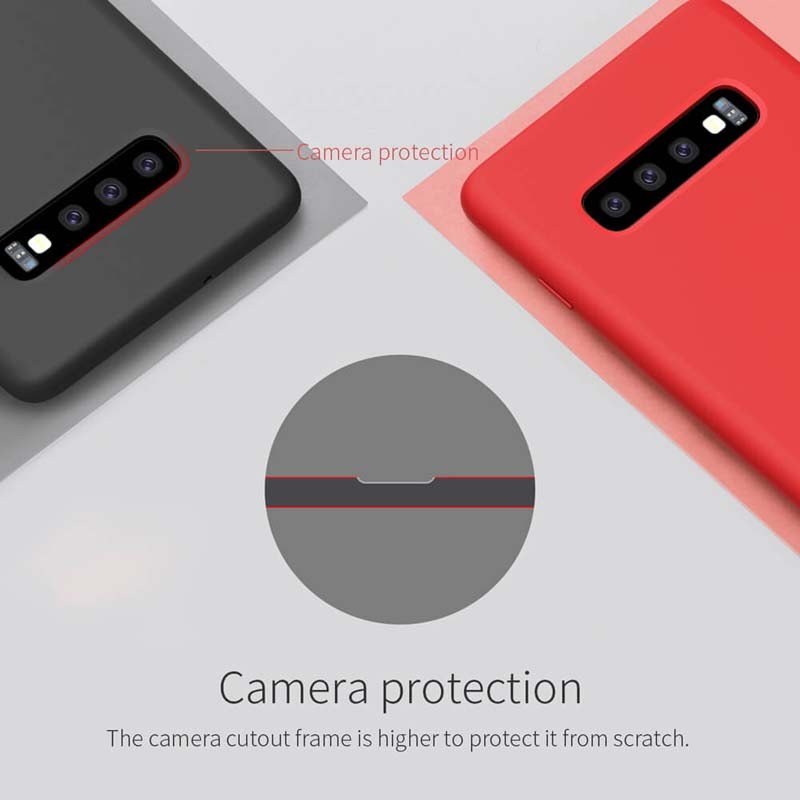 کیف چرمی نیلکین سامسونگ Nillkin Qin Leather Case Samsung Galaxy S10 Plus