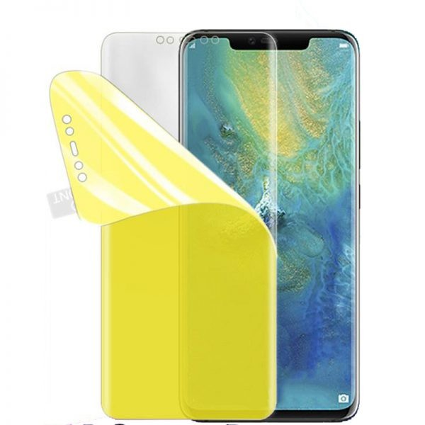 برچسب محافظ صفحه نمایش با پوشش کامل تمام چسب TPU Screen Shield Huawei Mate 20 Pro