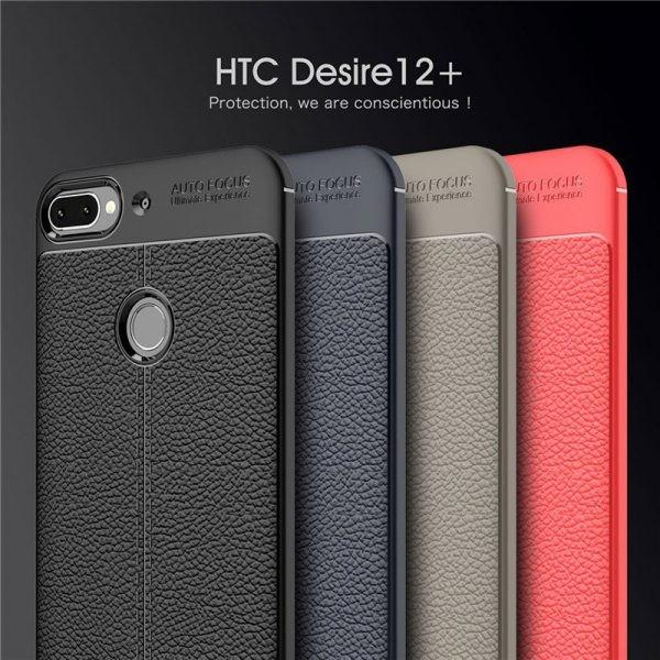 قاب ژله ای طرح چرم اچ تی سی Auto Focus Jelly Case HTC Desire 12 Plus