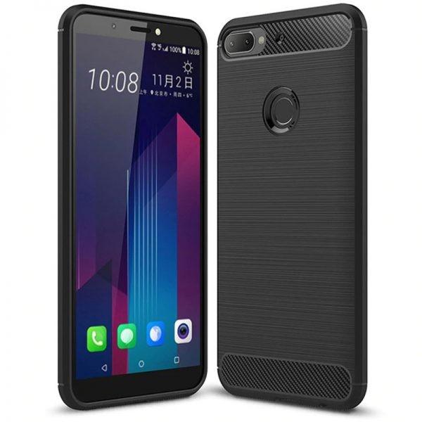 قاب محافظ ژله ای اچ تی سی Carbon Fibre Case HTC Desire 12 Plus