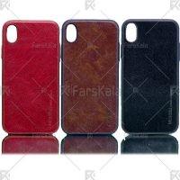 قاب محافظ چرمی اپل Huanmin Leather protective frame Apple iPhone XR