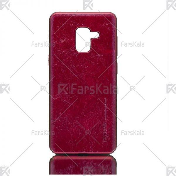 قاب محافظ چرمی سامسونگ Huanmin Leather protective frame Samsung Galaxy A5 2018
