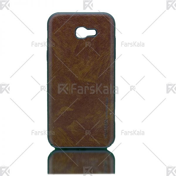 قاب محافظ چرمی سامسونگ Huanmin Leather protective frame Samsung Galaxy A7 2017