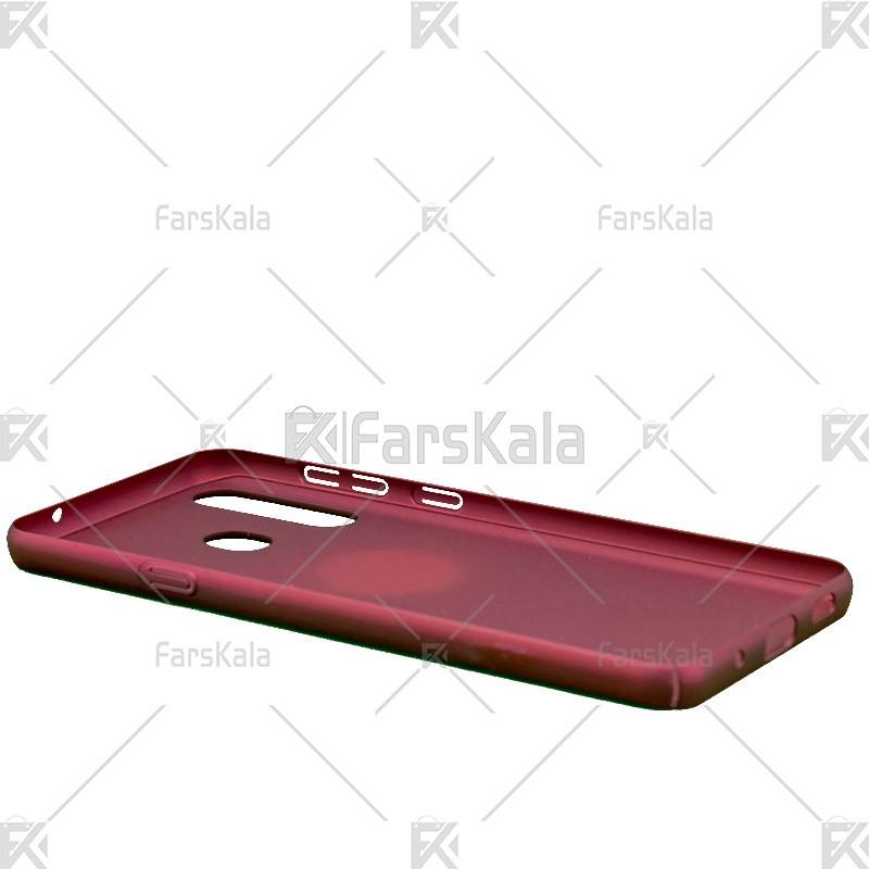 قاب محافظ چرمی سامسونگ Huanmin Leather protective frame Samsung Galaxy A8s