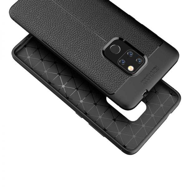 قاب ژله ای طرح چرم هواوی Auto Focus Jelly Case Huawei Mate 20