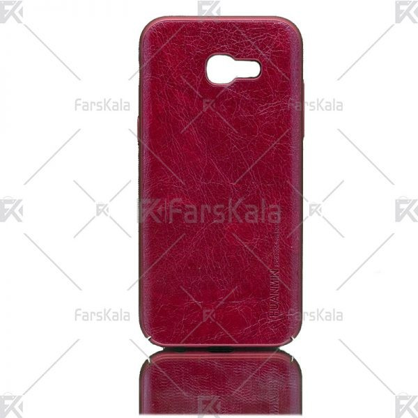 قاب محافظ چرمی سامسونگ Huanmin Leather protective frame Samsung Galaxy A5 2017