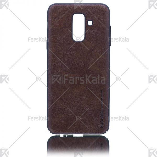 قاب محافظ چرمی سامسونگ Leather protective frame Samsung Galaxy A6 plus 2018