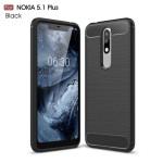 قاب محافظ ژله ای نوکیا Carbon Fibre Case Nokia 5.1 Plus / X5