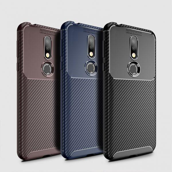 قاب ژله ای فیبر کربنی نوکیا Auto Focus Jelly Case Nokia 7.1 2018
