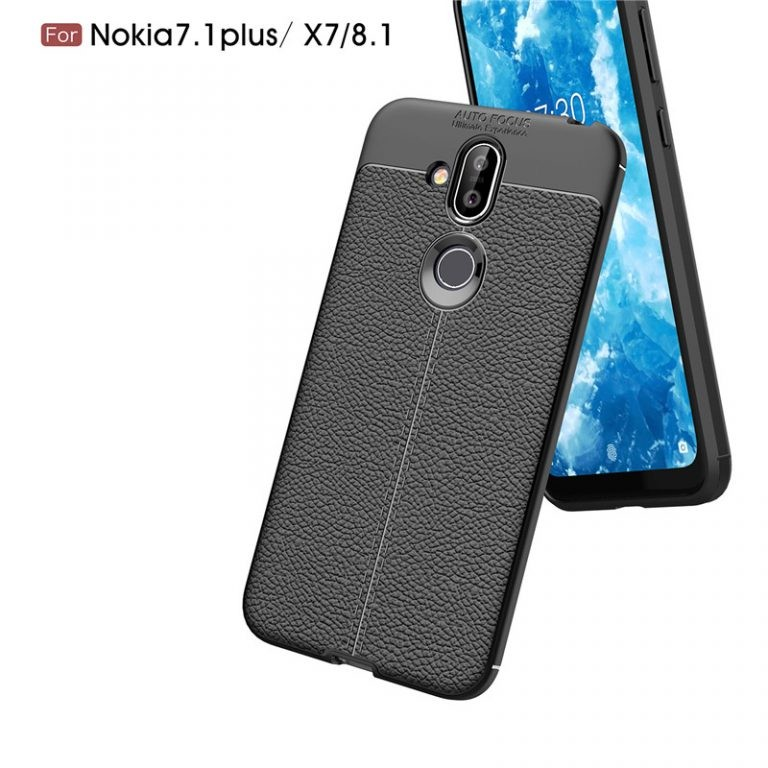 قاب ژله ای طرح چرم Auto Focus Jelly Case Nokia 8.1 / X7
